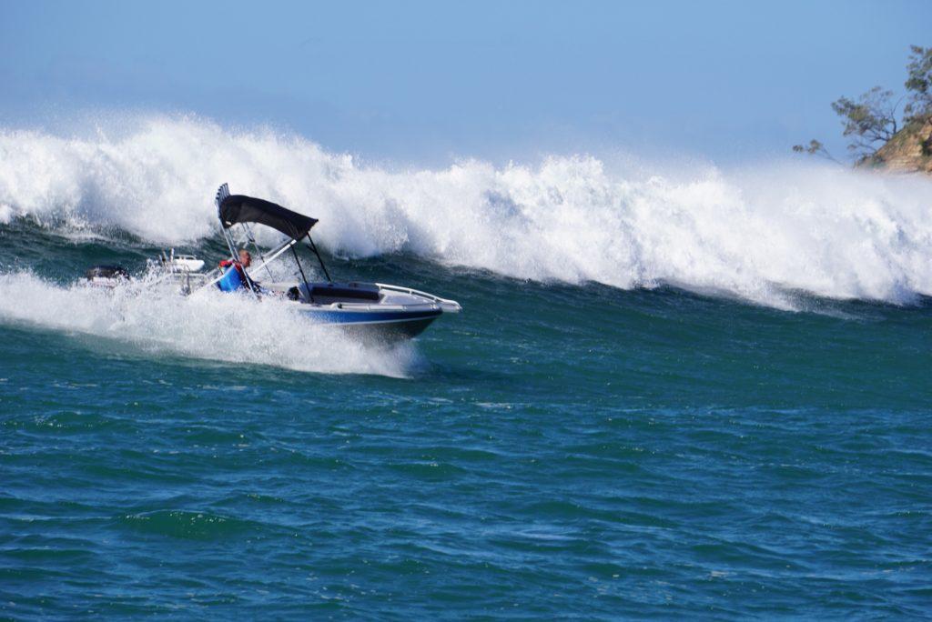Waverider boat on wave
