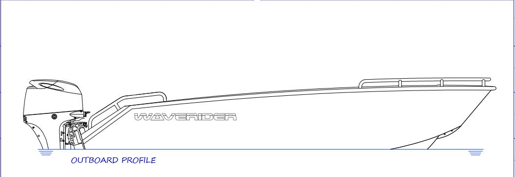 450 Tiller Steer - outboard profile