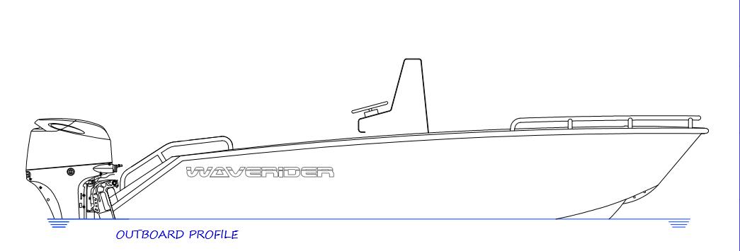 450 Centre Console - outboard profile