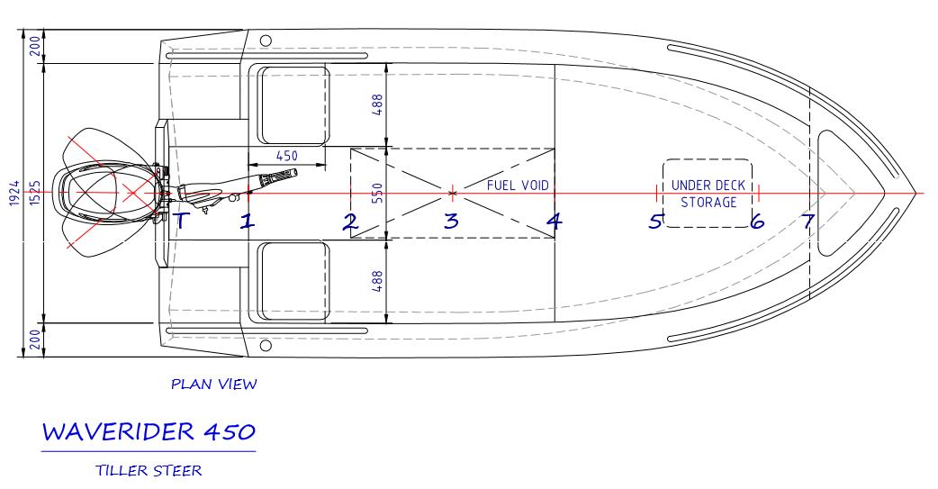 450 Tiller Steer - plan view