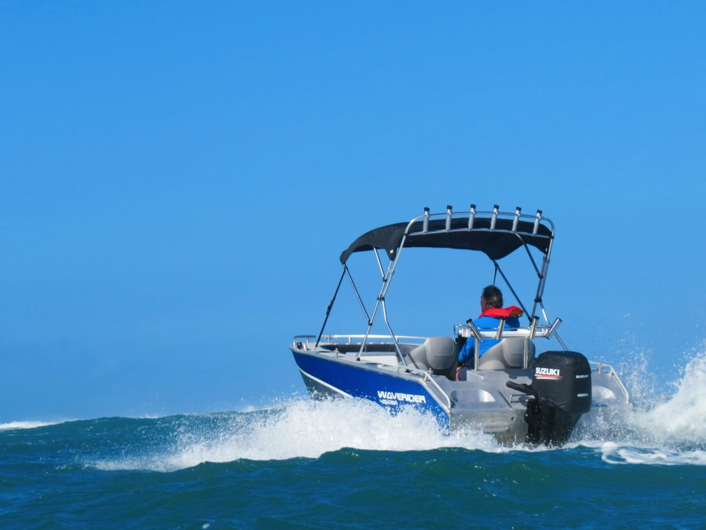 Playing offshore in Waverider 450 Bowrider