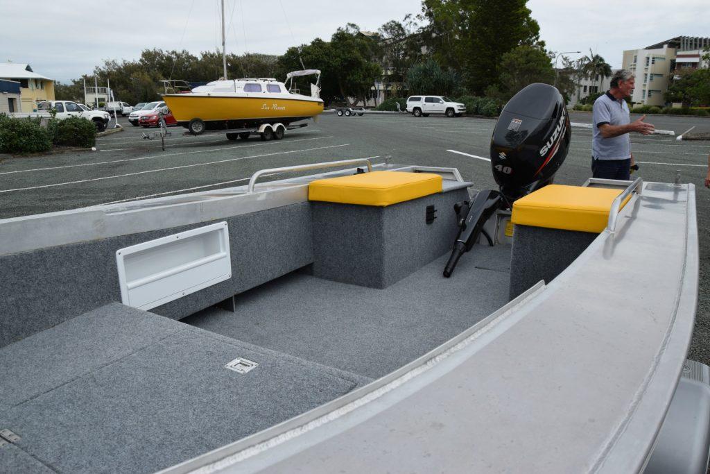 Generous work area inside the Waverider 450 TS