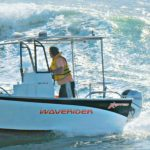 Waverider 560 prototype, playing in the waves - the handling is so sure and responsive