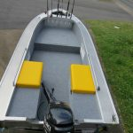 The rear part of the box seats are full of foam to ensure the boat passes Level Flotation.