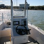 SEQ Water's centre console design on their Waverider 550.