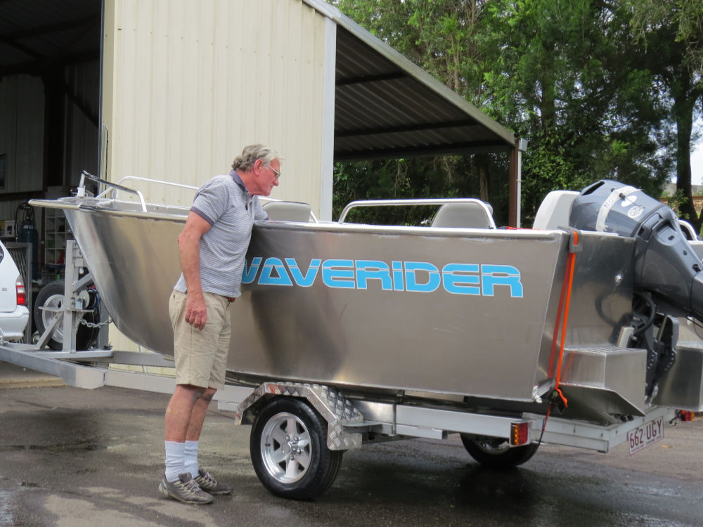 The sides of Waveriders are deeper than standard boats due to them having to meet the down point of the reverse chine.