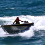Turning on the face of a swell with precision handling & safety