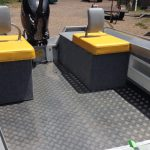 Chequer plate floor option. Also showing custom back-rests.