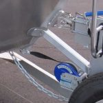 Boat Catch coupling, winch belt and chain = triple assurity your boat is locked-on.